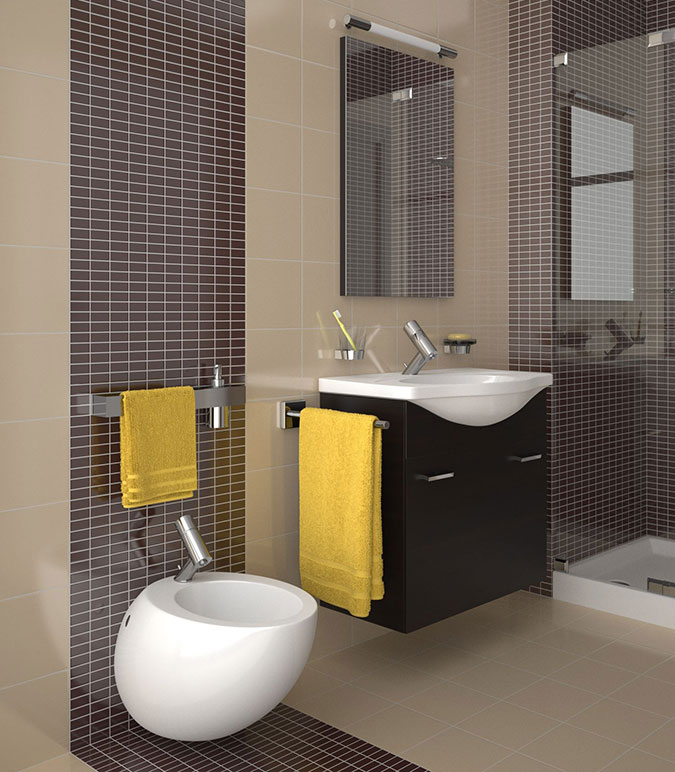 Lavabo con mobile integrato for Lavandino piccolo bagno