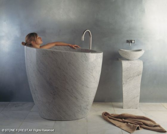Vasca da bagno Eau Soaking Tub by Stone Forest