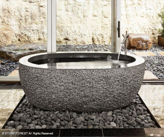 Vasca da bagno Oval Bathtub by Stone Forest